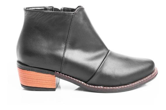 Botas Texanas Zapatos Mujer Borcegos Botinetas Cuero Plata