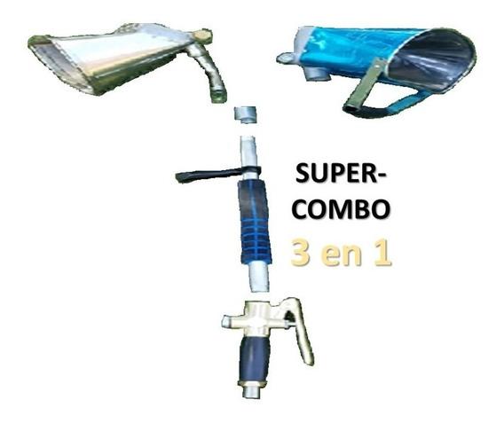 Lanzadora Mortero, Super-combo-3 En 1(2 Hoppers Pared Y Pla)