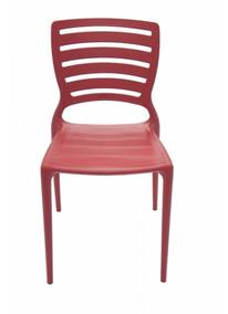 Cadeira Empilhável Encosto Vazado Horizontal Sofia Di