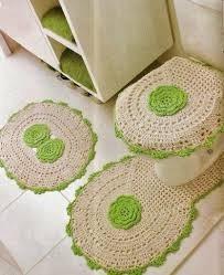 Kit Para Banheiro Em Crochê Peças Varios Modelos