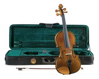 Violin Cremona 4/4 Tapa De Pino Solido Sv-150 Con Estuche