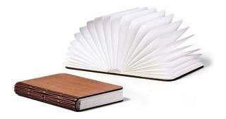 Lámpara Libro Led Recargable - Madera Luz Cálida
