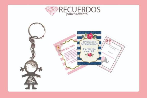 Llaveros 65 Pieza Niña Presentación Bautizo Baby Shower