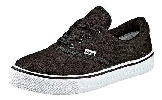 Sneaker Casual Panam Negro Textil Niño J72220 Udt