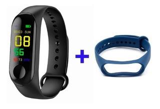 Relógio Inteligente Smartwatch M3 + 2 Pulseiras