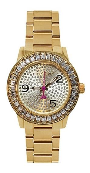 Reloj Para Mujer Nine2five As19q14glgl Dorado