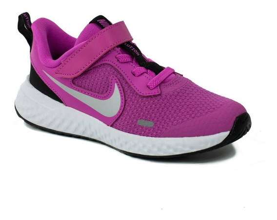 Tenis Nike Revolution 5 Rosa Niña 2020