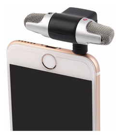 Mini Microf. Stéreo P3 Celular iPhone Android Gravação Audio