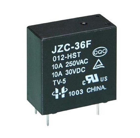Relê Jqx-36f - 4 Terminais - 10a - 12v / 30v 100 Peças