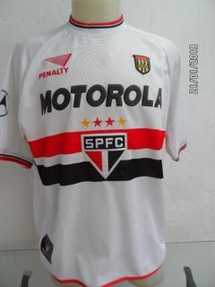 Camisa São Paulo 2001 Patch De Campeão Paulista De 2000