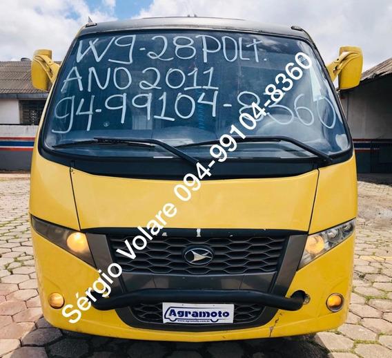 Micro Ônibus Volare W9 Fly Executivo Amarela Ano 2011/2011