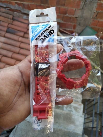 Kit Bezel + Pulseira Casio G-shock Ga-700 (vermelho)