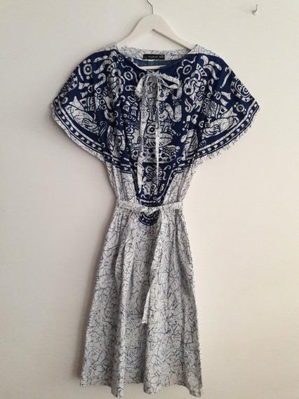 Vestido Retro Vintage Estampado De Algodón Talle M
