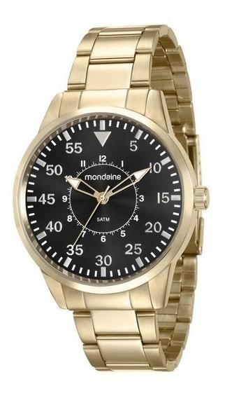 Relógio Masculino Mondaine Dourado 53531gpmvde1 Vltrine Nfe