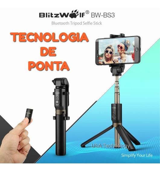 Melhor Bastão Pau De Selfie Blitzwolf Bluetooth Universal