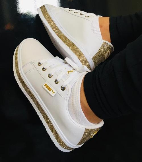 Tênis Branco Brilhos