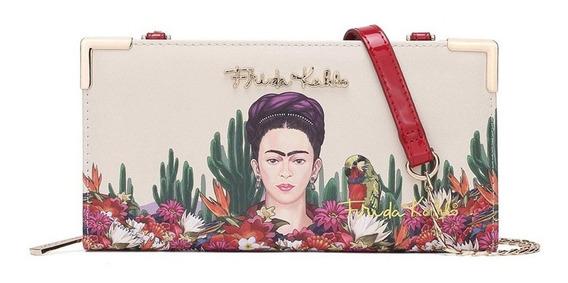 Frida Kahlo Original Billetera Fc928 Red