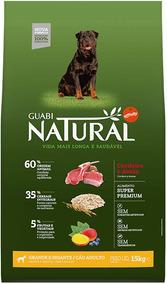 Ração Guabi Natural Cordeiro E Aveia Cães Adulto G E Gg 15kg
