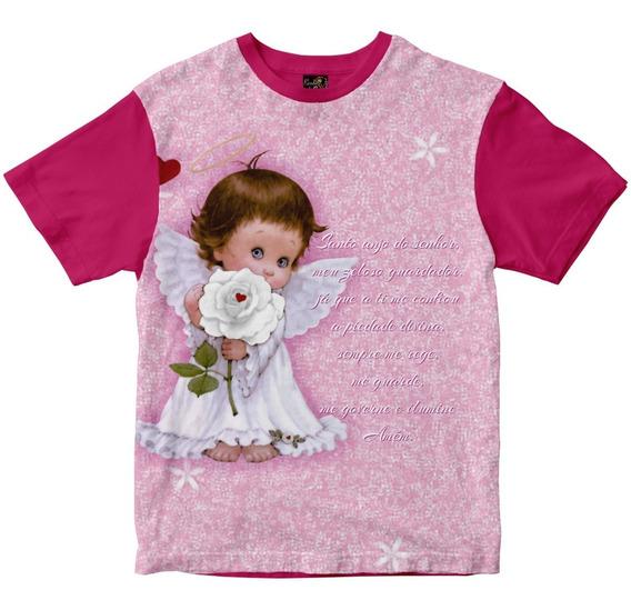 Camiseta Santo Anjo Da Guarda Com Oração