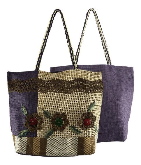 Bolsa Feminina Grande Tipo Sacola Comercial Textil Hy15065