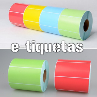 Pack 10 Rollos Termico Color 100x50 Mm X 1000 Unid