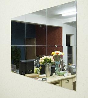 Alrenstm 30x30cm Plata 6 Unids Cuadrados Espejo Reflectante