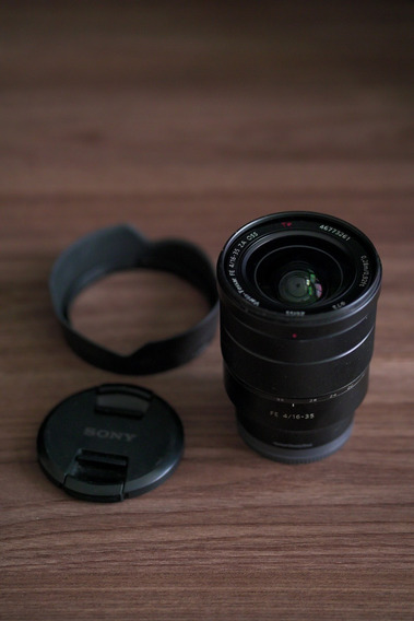 Lente Sony Zeiss Vario-tessar 16-35mm F4 + Filtro Ndv Greika