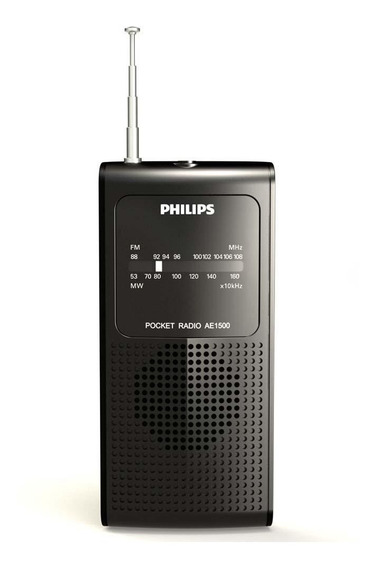 Rádio Portátil Philips Am/fm Ae1500/78x À Pilha Portatil