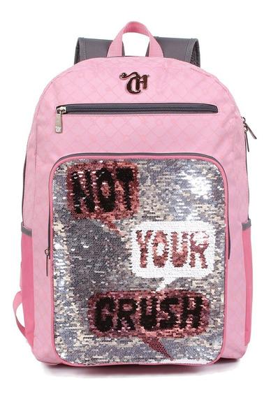 Mochila G Capricho Not Your Crush Lantejolas 11319
