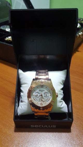 Relógio Femenino Seculus Ref 28300lpsgrs2 Original