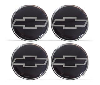 Kit Com 4 Emblema Adesivo Roda Calota Chevrolet Gm Resinado