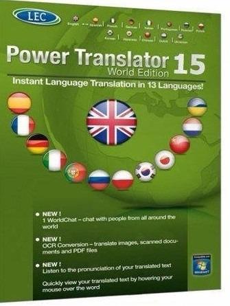 Tradutor Power Translator - Edição Mundial - 13 Línguas