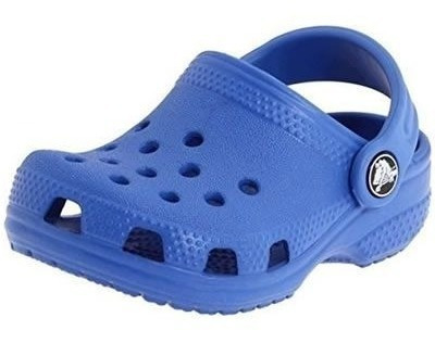 Sandália Crocs Littles Sea Blue Infantil Original + Nfe