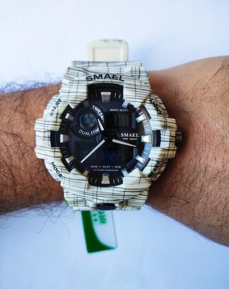 Relógio Masculino Smael Shock Esportivo A Prova D