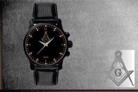 Relógio De Pulso Personalizado Maçonaria Maçon - Cod.1154