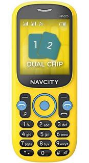 Celular Chip Dual Teclado Grande Tecla Idoso Np325 Barrinha