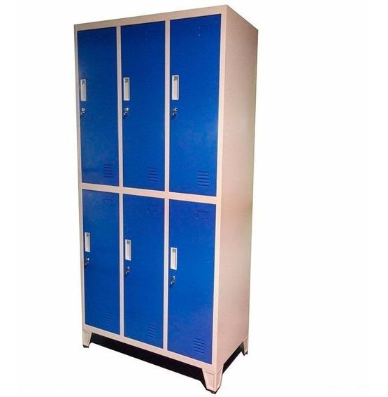 Guardarropas Locker Prontometal 6 Puertas Medianas Metálico