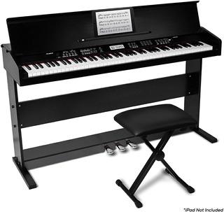 Alesis Virtue Piano Digital 88 Teclas Con Soporte Y Banco