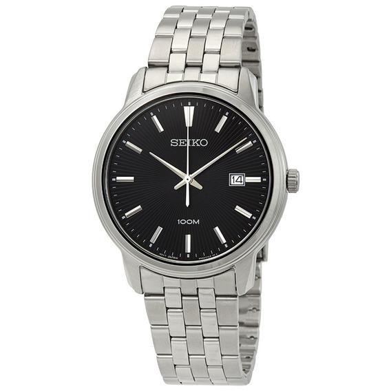 Reloj Seiko Sur261p1 Acero Plateado/negro Para Caballero