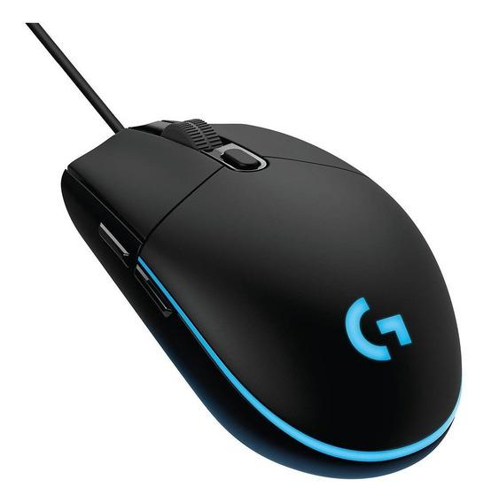 Mouse Gamer Logitech G203 Prodigy 6 Botões Led Rgb Macro W10