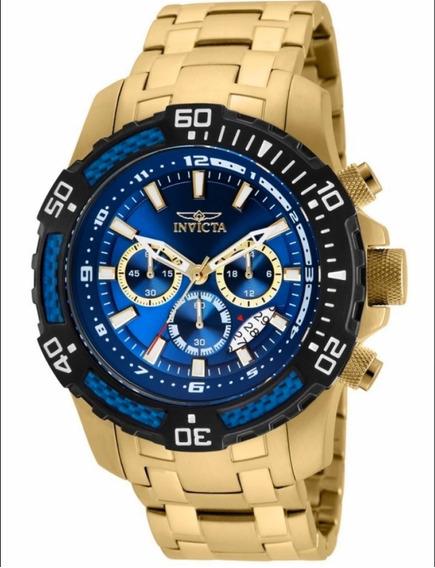 Relógio Invicta Pro Diver 24856 Original 51mm Banho Ouro 18k