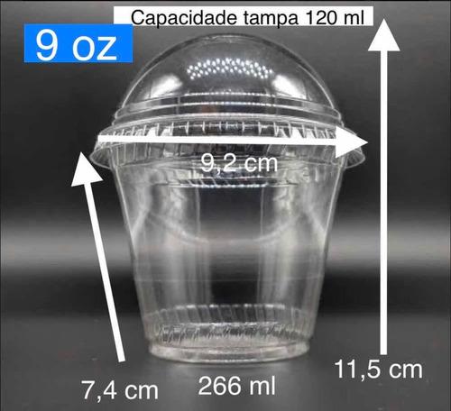 Imagem 1 de 11 de 50 Pote Sobremesa  Tampa Bolha S/furo (9oz) 266ml/270ml Full