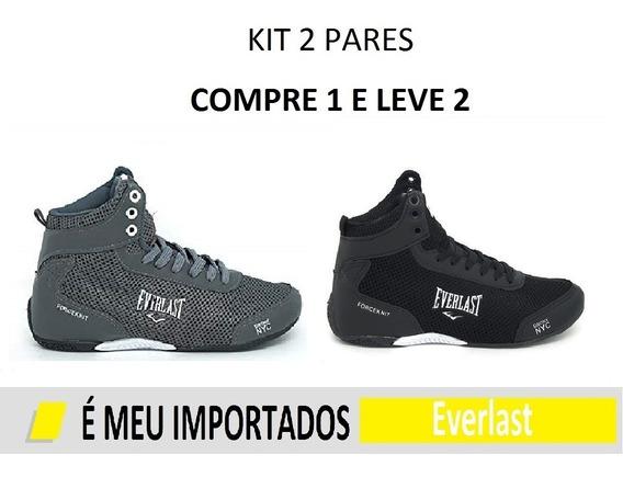 Kit 2 Pares Tênis Everlast Bota Masculino Revenda