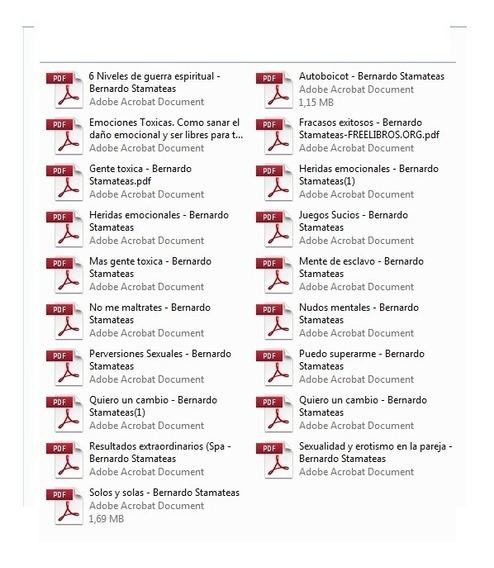 19 Libros Bernardo Stamateas