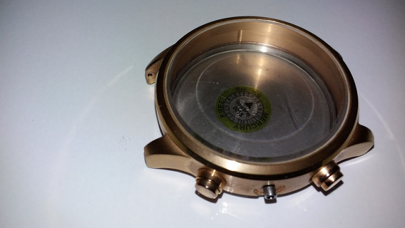 Caixa De Relógio Tommy Helfiger Dourada Com Pinos. Linda!