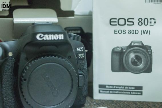 Câmera Canon 80d Nova, Na Caixa, Garantia (só O Corpo)