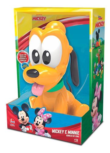 Boneco De Vinil Pluto Baby Líder Brinquedos 2893