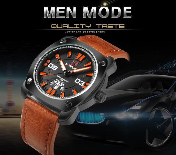 Relógio De Luxo Modelo Militar - Naviforce - Frete Grátis