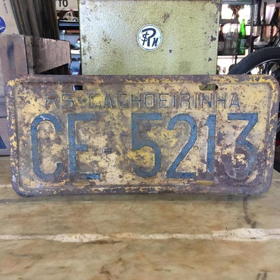 Placa Amarela Ferro Carro Antigo Decoração Ñ Medalha 397