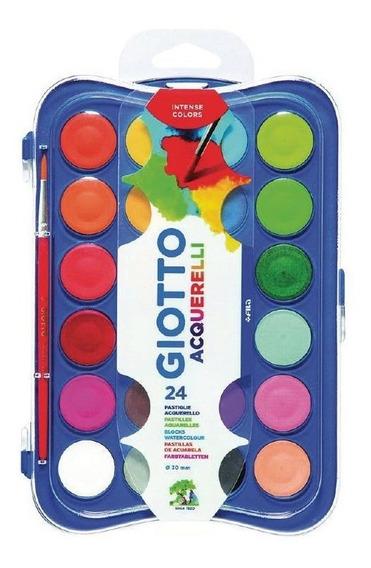 Acuarelas Giotto Premium Bandeja X 24 Colores